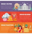 India Horizontal Banners Set vector image