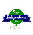 india independence day greeting emblem vector image vector image