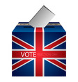 isolated urne vote vector image vector image