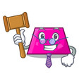 judge trapezoid mascot cartoon style vector image vector image
