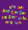 kids numbers word text vector image vector image