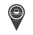 map pointer hat icon vector image