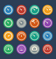 meter icons set flat design vector image vector image