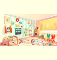 montessori room with rubbish elementary vector image vector image