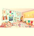 montessori room with rubbish elementary vector image vector image