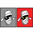 Mummy Halloween mask 2 vector image vector image