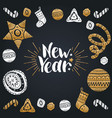 new year lettering design with festive vector image vector image
