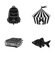 ocean fishing tourism and other web icon in vector image vector image