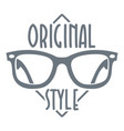 original style logo simple style vector image vector image