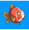 pink cartoon fish vector image vector image