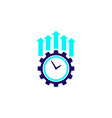 productivity and efficiency growth icon vector image vector image