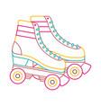 retro roller skates wheels trendy vintage vector image vector image