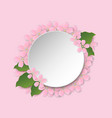 round frame with sakura blossom and space for text vector image vector image