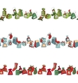 Seamless horizontal pattern brush with Christmas vector image vector image
