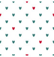 seamless pattern of red and blue hearts vector image vector image
