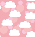 Seamless pattern sunset sunrise sky clouds Pink vector image