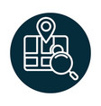 search icon gps navigation pointer magnifier vector image vector image