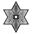 sketch tattoo star of solomon vector image vector image