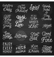 slogans chalkboard abstract vector image vector image