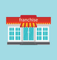 small store or franchise isolated on blue vector image vector image
