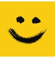 Smiling emoticon painted vector image