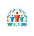 social media - logo template concept vector image vector image