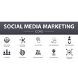 social media marketing simple concept icons set vector image