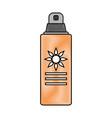 spray sunscreen protection vector image vector image