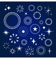 Starburst stars and sparkles burst icons set vector image vector image