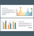 statistic web pages visualized information charts vector image vector image