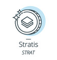 stratis cryptocurrency coin line icon of virtual vector image vector image