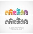 Suburban homes icon vector image