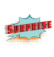 surprise text comic word vector image