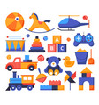 toys - set flat design style elements vector image vector image