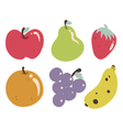 Tropical Fruits Collection vector image