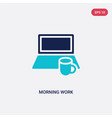 two color morning work icon from computer concept vector image