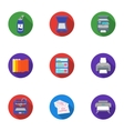 Typography set icons in flat style Big collection vector image vector image