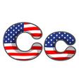 united states letter alphabet vector image