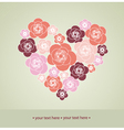Valentines Day decoration with heart vector image vector image