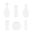 Vase icon set Ceramic Pottery Glass Flower vector image