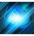 Virtual technology blue background burst li vector image vector image
