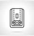 Water heater black simple line icon