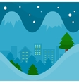 Winter Season Concept in Flat Design vector image vector image