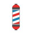 barbershop label with stripes vector image