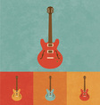Retro Electric Guitar vector image