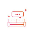 bed or sofa speech bubble icon gradient line vector image