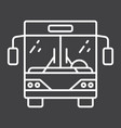 bus line icon transport and vehicle tour bus vector image