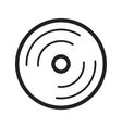 Music CD vector image