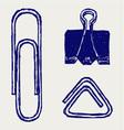 a paper clip vector image