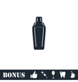 Bar shaker icon flat vector image